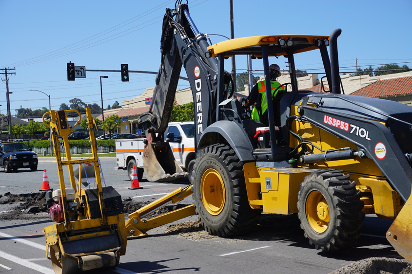 Instead of conducting two projects along the same stretch of road consecutively, the City of Encinitas and Olivenhain Municipal Water District are coordinating their work to minimize disruption to the community. Photo: Olivenhain Municipal Water District