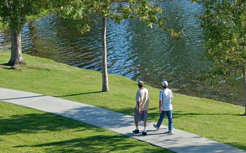 Pedestrians at Santee Lakes. Photo: Padre Dam Municipal Water District
