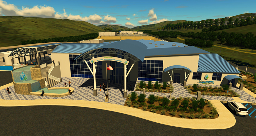 East County Advanced Water Purification Project-Visitor Center rendering-June 2020-Helix