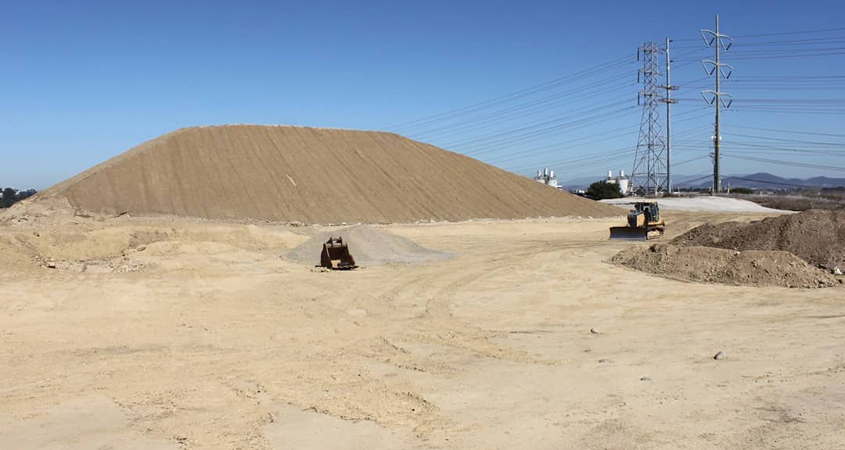 More than 80,000 cubic yards of soil have been moved to date during initial site work on the Pure Water San Diego project, which is equivalent of approximately 25 Olympic sized swimming pools. Photo: City of San Diego