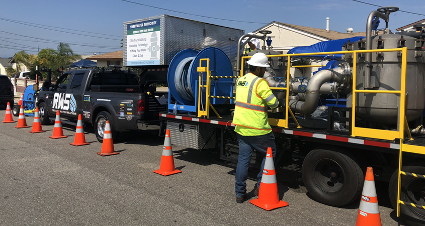 The Sweetwater Authority will use innovative technology to flush all 400 miles of its system pipelines. Pnoto: Sweetwater Authority