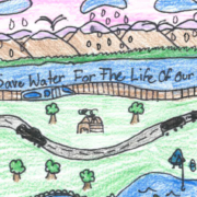 Karmen Isabel Simons, a fourth grade student from St. Francis of Assisi Catholic School in Vista, received first place honors from the District for her entry in the competition. She received a $100 award. Photo: Vista Irrigation District 2020 Student Poster Contest