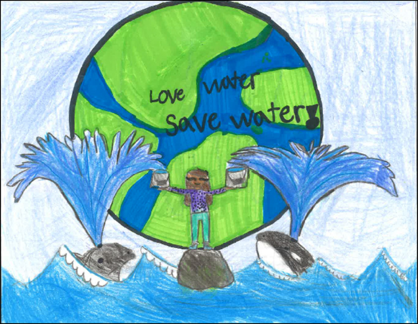 Angelica Zetina from Mission Meadows Elementary School in Oceanside received a third place award of $25 for her entry in the contest. Photo: Vista Irrigation District