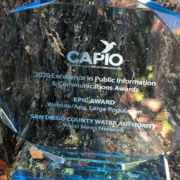 EPIC Award-CAPIO-San Diego County Water Authority-Water News Network