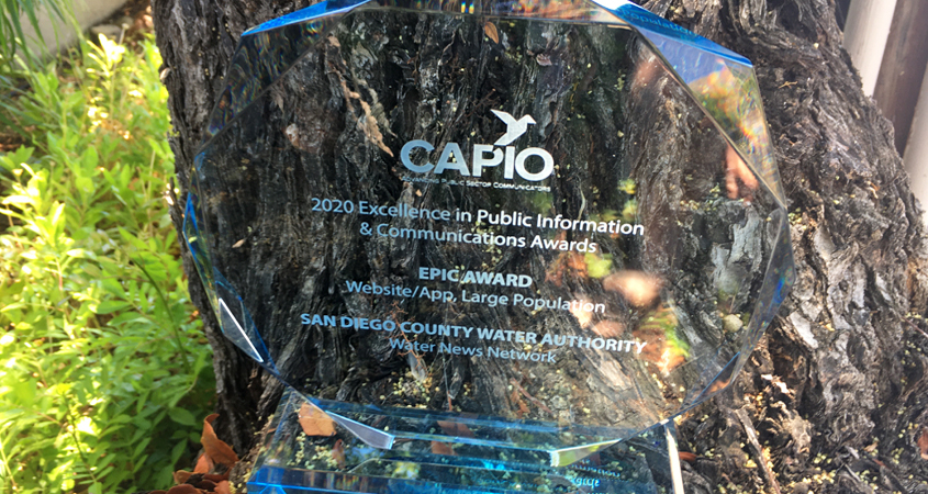 EPIC Award-CAPIO-San Diego County Water Authority-Water News Network