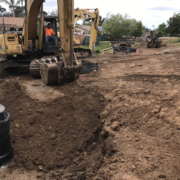 Construction near San Marcos homes required creative thinking and community cooperation from the Vallecitos Water District to successfully complete the project. infrastructure