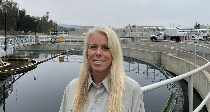 City of Escondido Wastewater Treatment Plant Operator Carrie Selby is among a growing number of women working in water and wastewater industry careers. Photo: City of Escondido