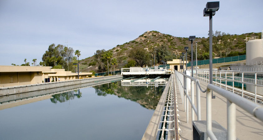 The City of Poway is performing maintenance at Lake Poway, drawing the lake level down temporarily. Photo: City of Poway