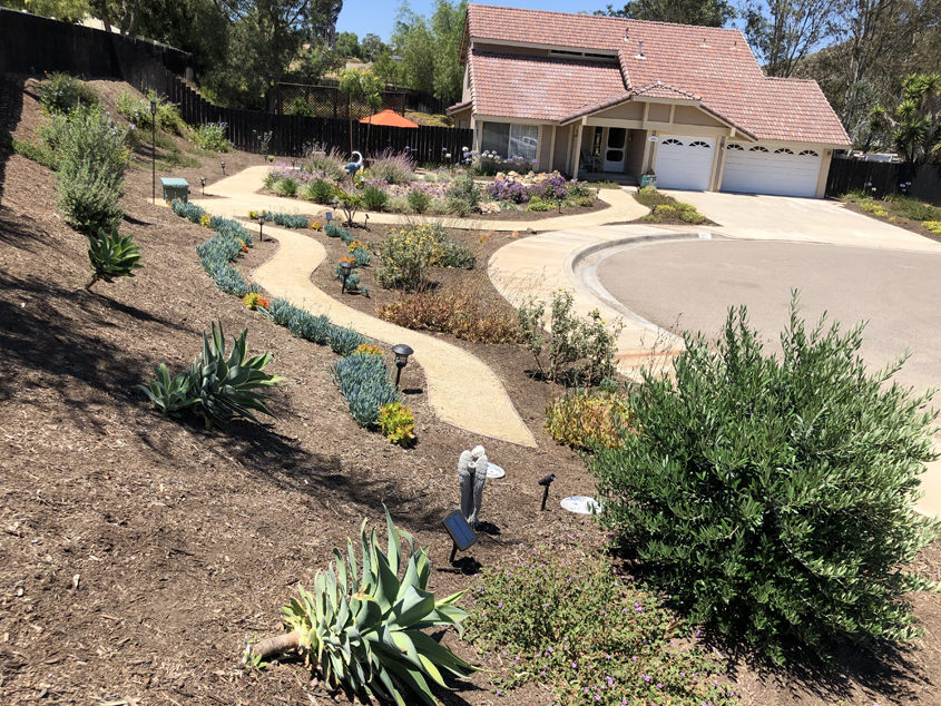 Patricia Wood's winning landscape design after its makeover. Photo: Otay Water District accessible garden