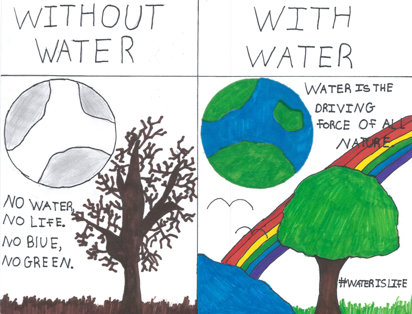Sarah Bernier – Sixth Grade, Joan MacQueen Middle School, Alpine. Photo: Padre Dam MWD Water Is Life