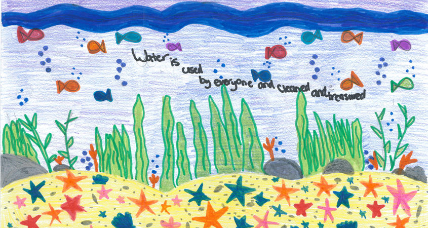 Emily Castiglione's winning poster She is an eighth grade student at Joan MacQueen Middle School in Alpine. Photo: Padre Dam MWD Water Is Life