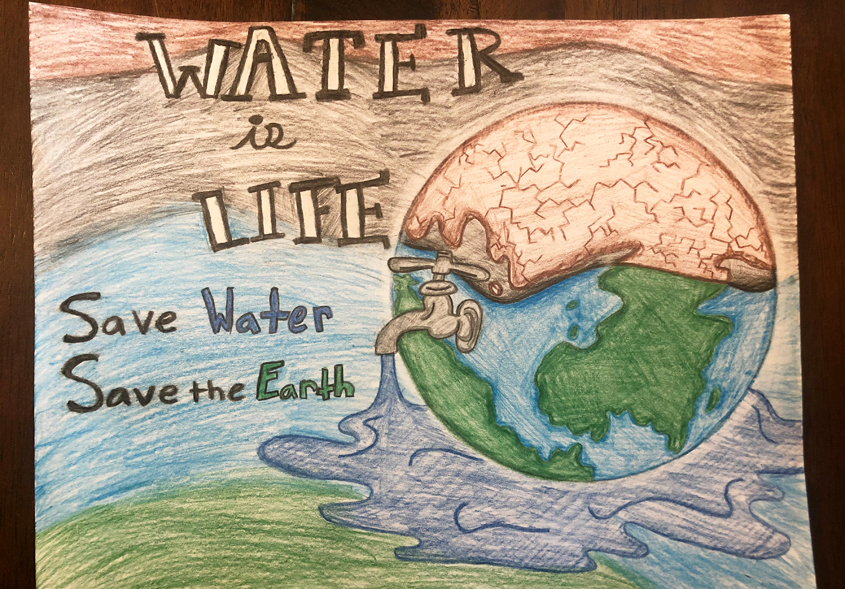 Violet Jacobson – Fourth Grade, Hill Creek School, Santee. Photo: Padre Dam MWD Water Is Life