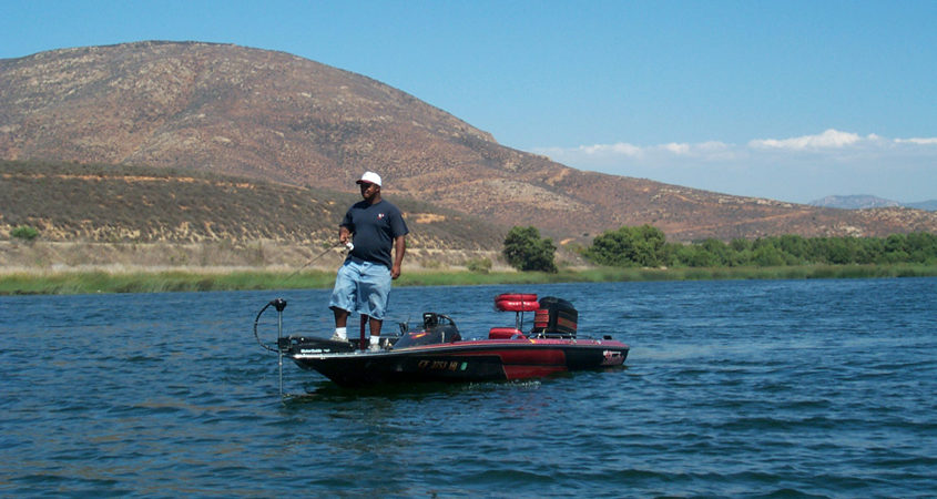 Recreational activities such as fishing at Lower Otay Reservoir are continuing safely under new coronavirus safety protocols. Photo: City of San Diego reservoirs open