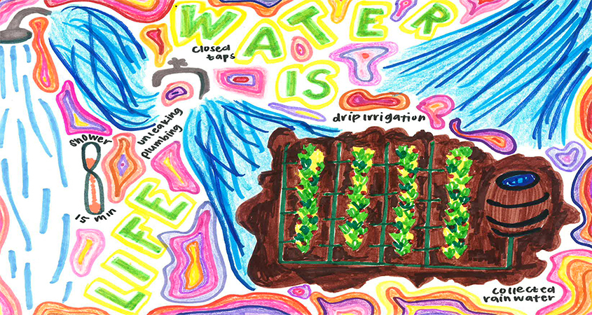 First place, High Schools: Sofia Perez Valles, 12th Grade, Olympian High School. Photo: Otay WD poster contest