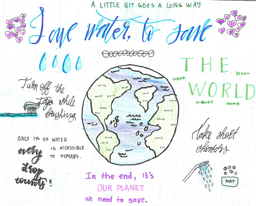 Photo: Olivenhain Municipal Water District water awareness poster contest