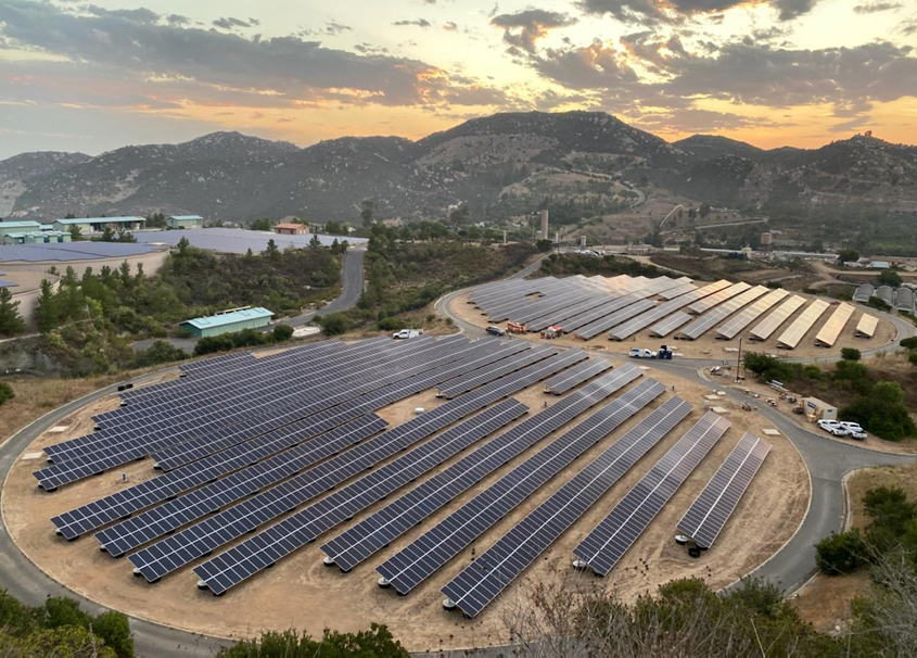The Twin Oaks Reservoir dual solar array total production is roughly 3.6 mWh annually, enough to power 340 homes. Photo: Vallecitos Water District