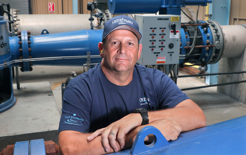Dominic Brunozzi credits a 21-year active duty career of service in the United States Navy for his attention to detail and ability to multitask. He retired in 2007 as a Chief Petty Officer. Photo: Water Authority