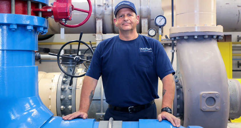 """Olivenhain Municipal Water District's Pump/Motor Technician Dominic """"Bruno"""" Brunozzi has been named the California Water Environment Association's (CWEA) """"Mechanical Technician of the Year: for the third time. Photo: Water Authority Dominic Brunozzi"""
