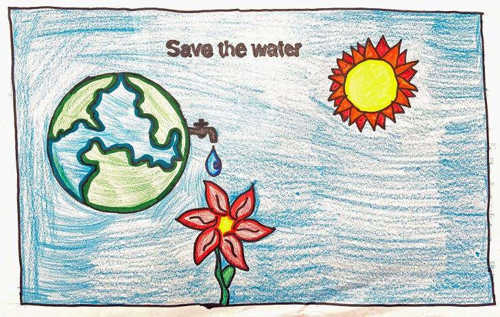 Honorable Mention – Giselle Villegas Garcia, Lemon Grove Academy, Grade 5. Photo: Helix Water District