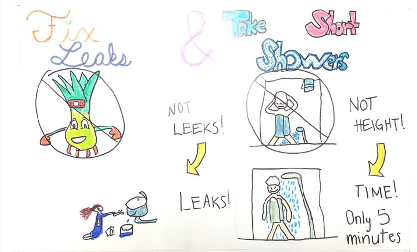 Honorable Mention – Lily Griffin, Murdock Elementary, Grade 3. Photo: Helix Water District