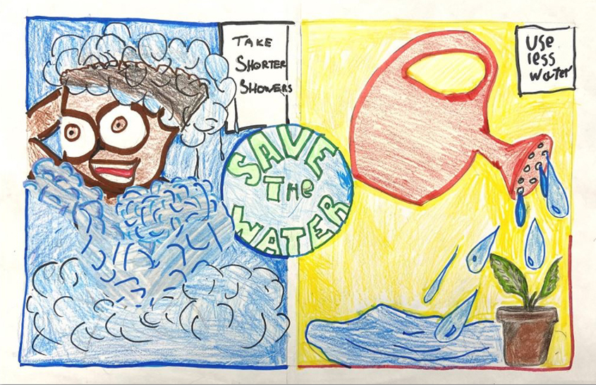 Second Place – Marvin Sears III, La Mesa Dale Elementary, Grade 3. Photo: Helix Water District
