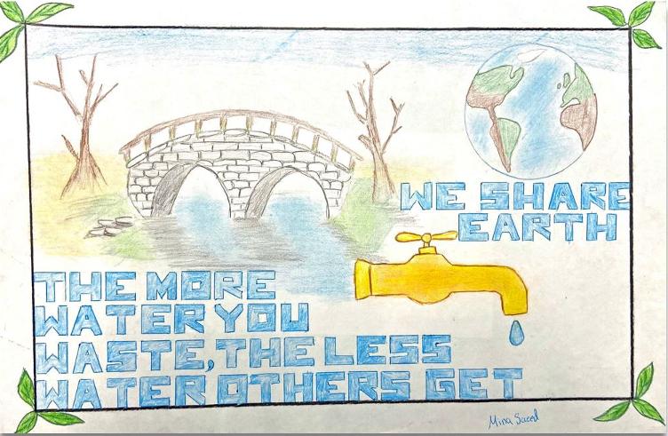 Third Place – Mina Saeed, Lexington Elementary, Grade 4. Photo: Helix Water District
