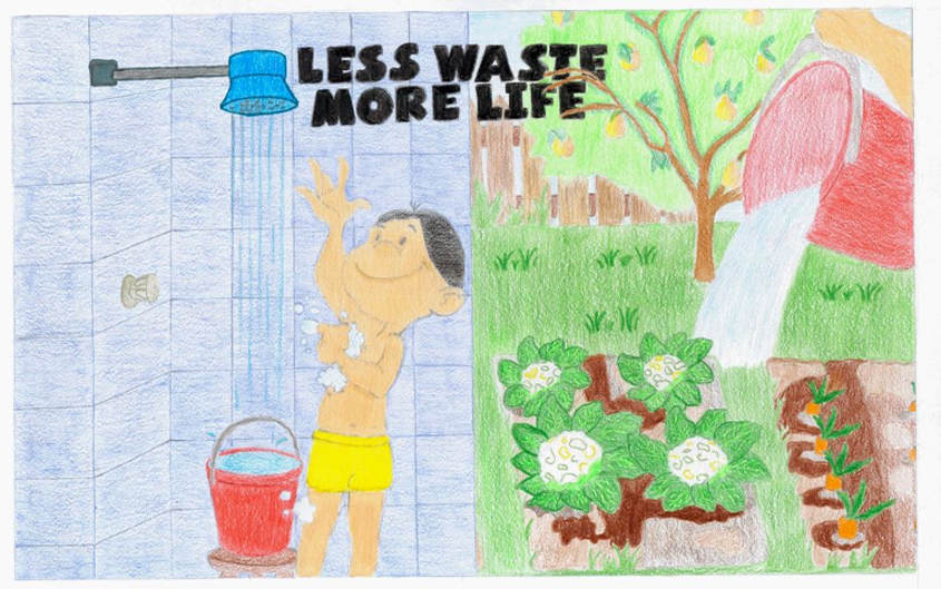 Second Place – Nurah Avellano, St. John of the Cross, Grade 6. Photo: Helix Water District