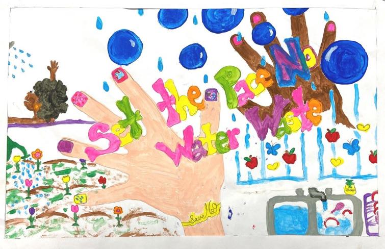 Honorable Mention – Pashaun Tillman, La Mesa Dale Elementary, Grade 3. Photo: Helix Water DistrictThird Place – Alexander Mollner, St. John of the Cross, Grade 2. Photo: Helix Water District