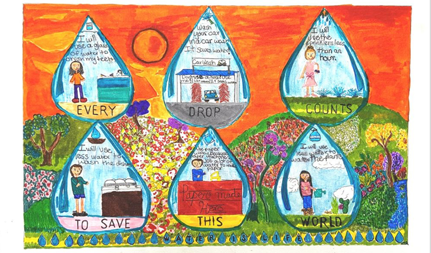 Honorable Mention – Valeria Ramirez-Quiroz, St. John of the Cross, Grade 5. Photo: Helix Water DIstrict