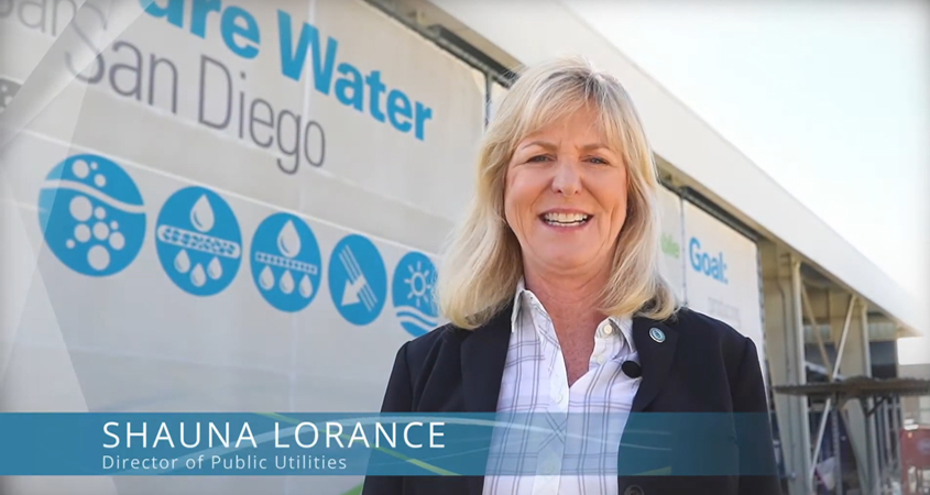 City of San Diego Director of Public Utilities Shauna Lorance welcomes viewers to the new virtual tour. Photo: City of San Diego water agency outreach