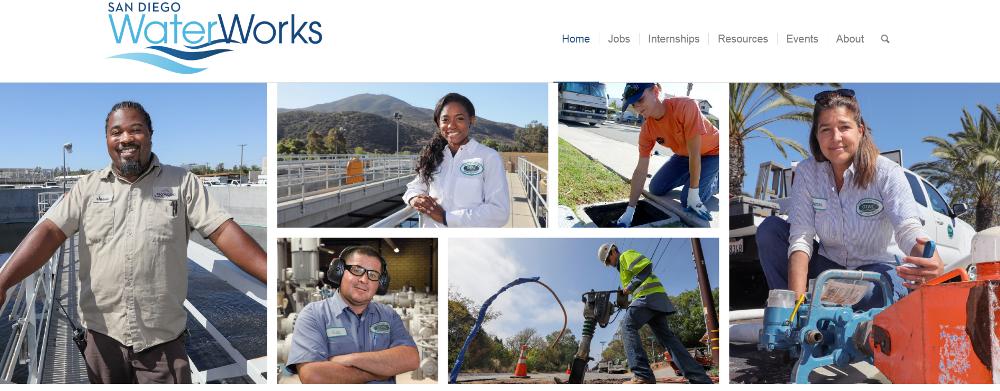 San Diego Water Works website-water jobs-water industry