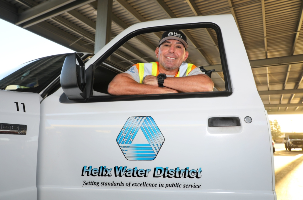 Veteran Sam Pacheco said he gets a second opportunity to serve his community in his job with the Helix Water District. Photo: Water Authority