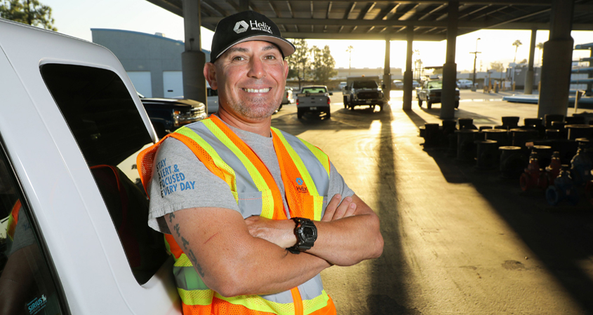 U.S. Marine Corps veteran Sam Pacheco is one of 15 Helix Water District employees who are military veterans. Photo: Water Authority Veterans Day