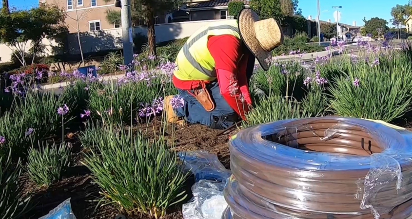 O'Connell Landscape Maintenance performed the irrigation work for the San Elijo HOA. Photo: Vallecitos Water District
