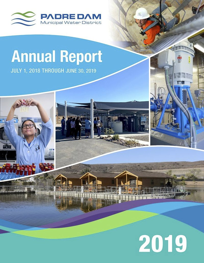 The cover of the award-winning Padre Dam Municipal Water District 2019 annual report. Photo: Padre Dam MWD