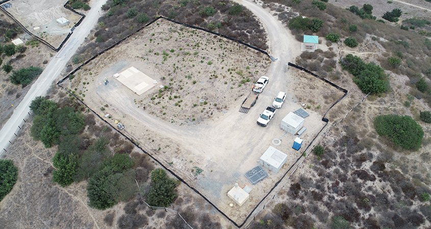 Drone aerial view of Mission Trails FRS II project