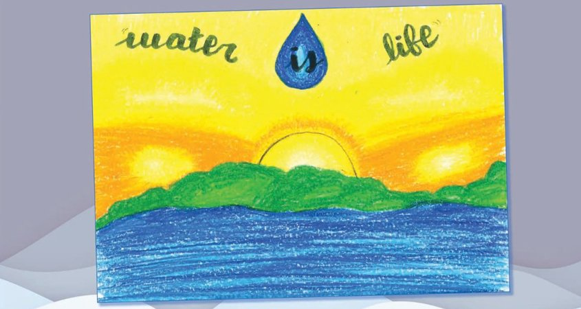 """Lucia Perez Valles is one of six San Diego regional winners whose artwork appears in the 2012 """"Water Is Life"""" calendar. Photo: Otay Water District 2021 Calendar"""