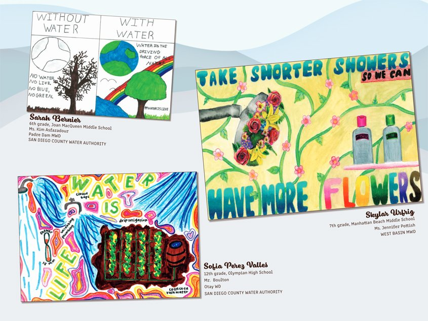 Sofia Perez Valles' and Sarah Bernier's winning entries appear on the November 2021 page. Photo: MWD