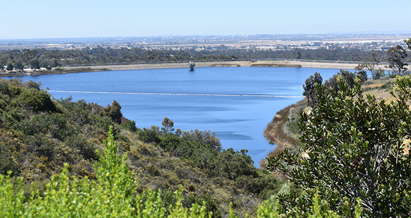 Today in 2020, the Miramar Reservoir is poised to play a key role in the Pure Water San Diego project. Photo: City of San Diego