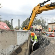 Crews work on First Aqueduct Rehabilitation.