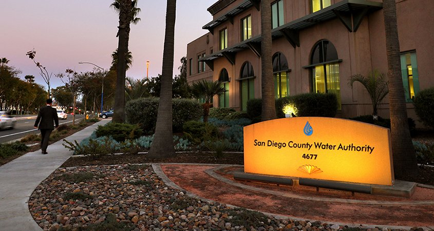 San Diego County Water Authority-Building at night-MWD