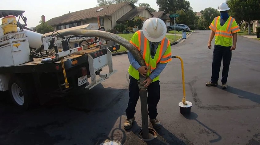 The District's geographic information system (GIS) provides a written record of valve location, condition, maintenance, and inspection records for each valve serviced. Photo: Vallecitos Water District