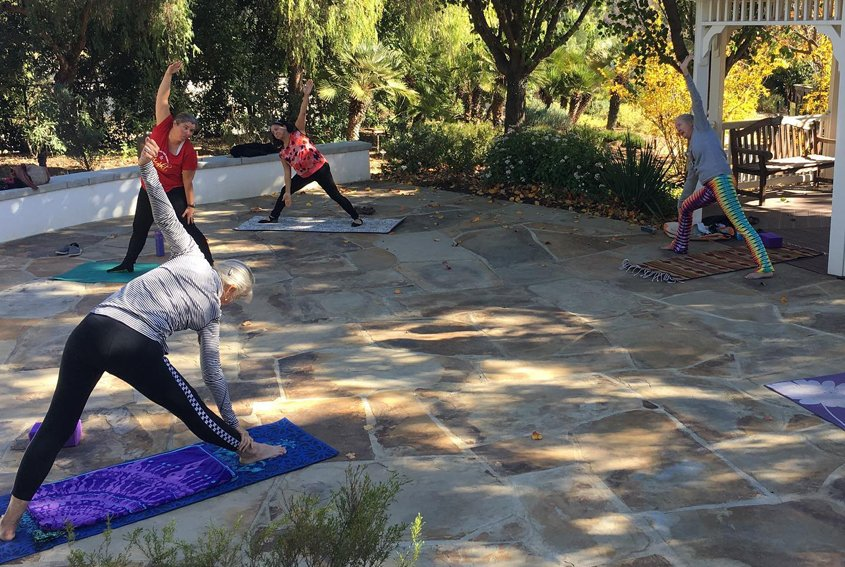 Outdoor fitness classes including yoga are popular at The Garden. Photo: The Garden