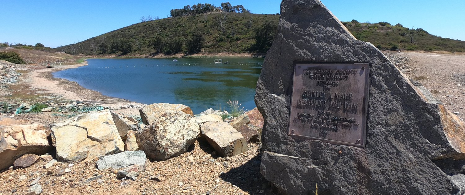 The Mahr Reservoir stores up to 54 million gallons of reclaimed water to be used later for irrigation. Photo: Vallecitos Water District