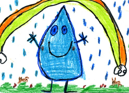 "Sixteen determined Live Oak Elementary School students in Fallbrook made sure a 2021 ""Be WaterSmart"" calendar would be published despite the coronavirus pandemic. Photo: Fallbrook Public Utility District Fallbrook students"