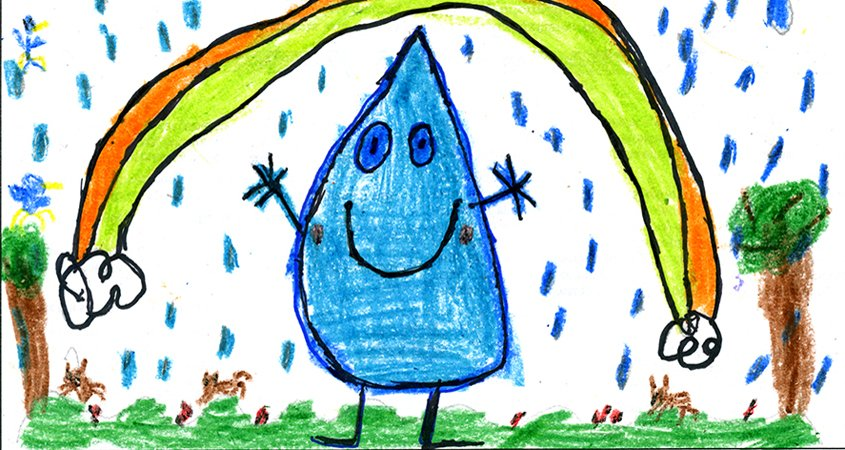 """Sixteen determined Live Oak Elementary School students in Fallbrook made sure a 2021 """"Be WaterSmart"""" calendar would be published despite the coronavirus pandemic. Photo: Fallbrook Public Utility District Fallbrook students"""