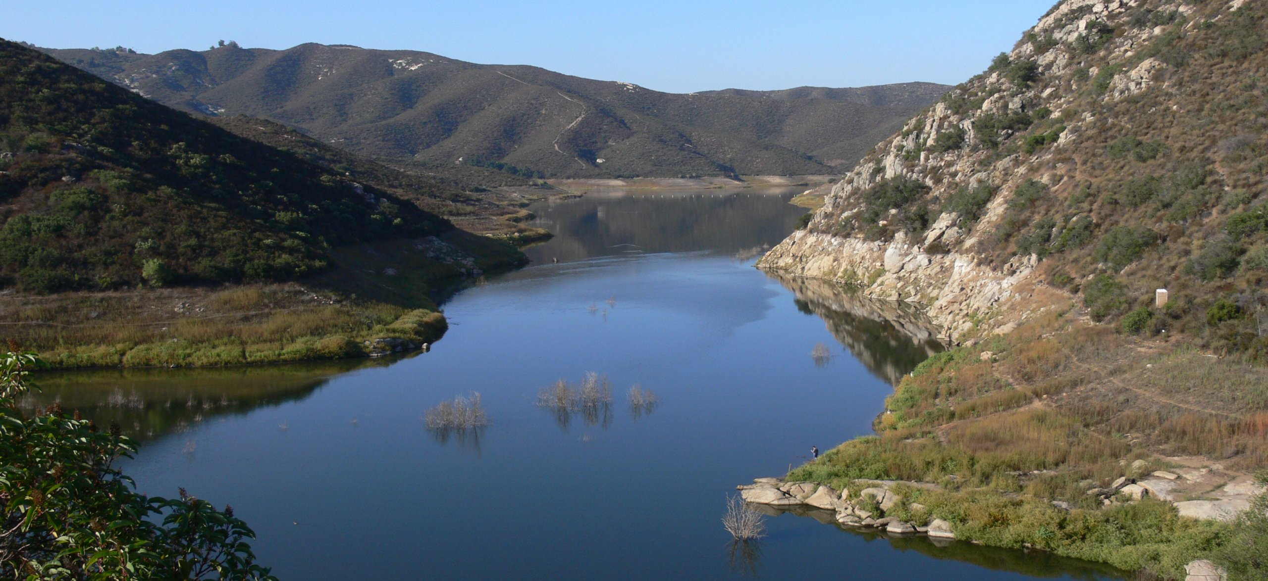 Sweetwater Authority owns and maintains two popular recreation spots in San Diego County, Sweetwater Reservoir (above) near Spring Valley, California, and Loveland Reservoir, further east near Alpine, California. Photo: Sweetwater Authority