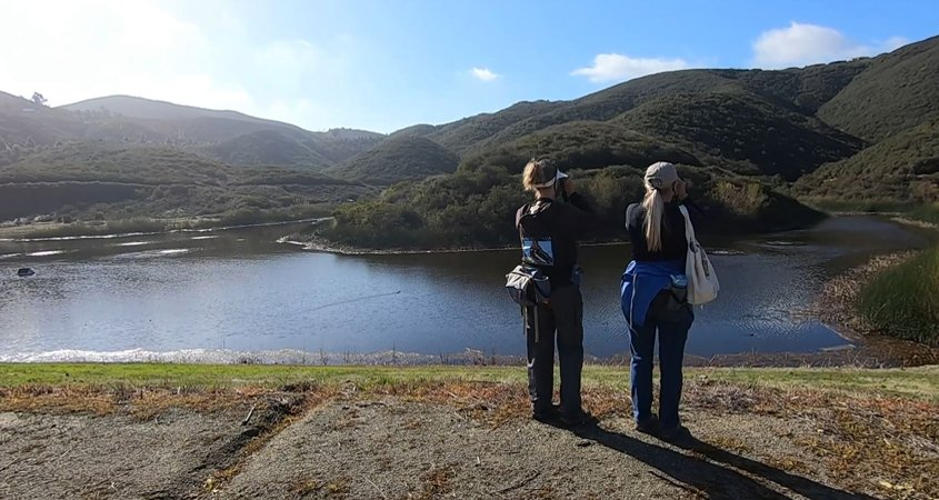 Buena Vista Audubon Society volunteers including Karen Merrill andd Paig DeCino identified 36 species in mid-February and created a YouTube video showcasing some of the species seen. Photo: Vallecitos Water District