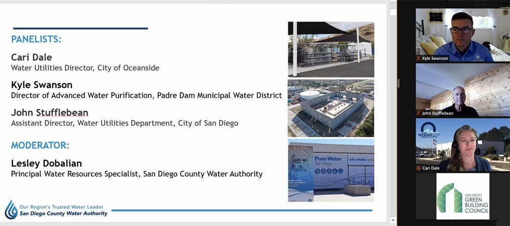 Panelists provided the latest updates on Pure Water San Diego, Pure Water Oceanside, and the East County Advanced Water Project. Photo: Water Authority