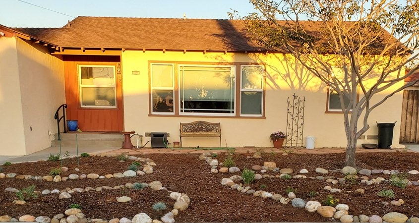 The Rodriguez home before its landscaping makeover. Photo: Sweetwater Authority